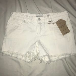 NEW Lucky Brand The Cut Off White Shorts